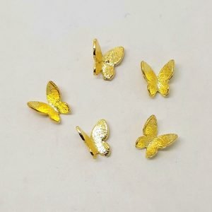butterfly nail charms gold
