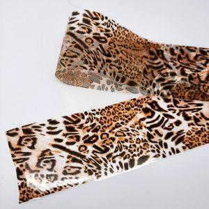 caramel animal print foil