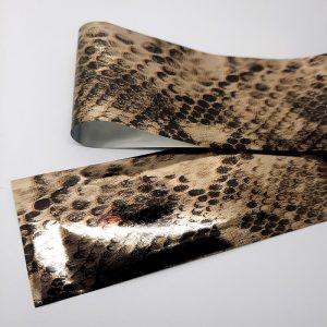 metallic snakeskin foil
