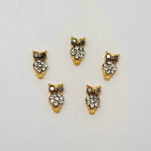 nail art owl charms