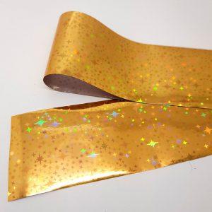 gold holo stars foil