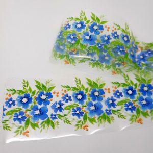 blue flowers foil