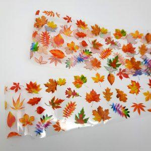 autumn leaves nail foil