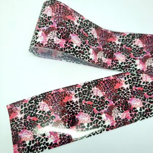 funky leopard print foil