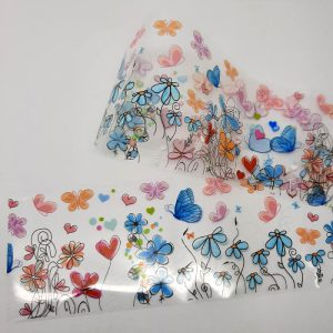 butterfly and flowers foil