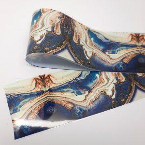 beautiful blue marbled foil