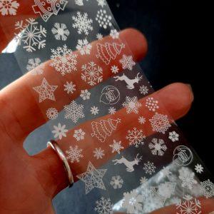 christmas foil white snowflakes