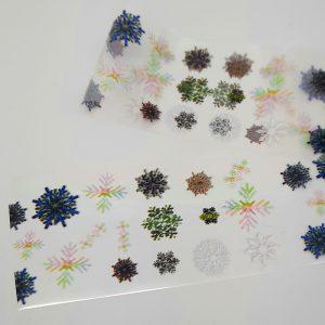 snowflakes nail foil