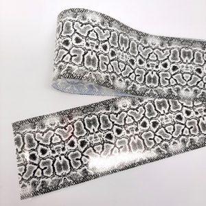 snakeskin foil black white