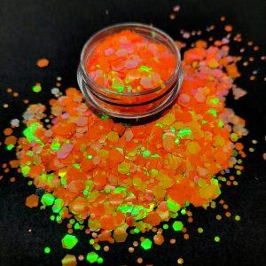 orange glitter mix