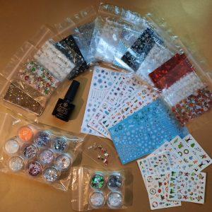 christmas nail art pack