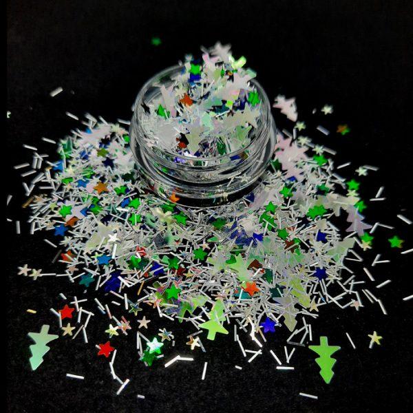 christmas tinsel glitter