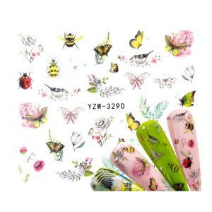 bees bugs butterflies water decals