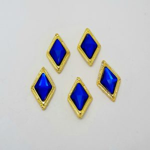 blue diamond nail charms
