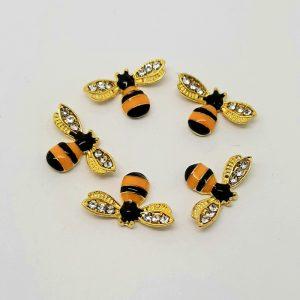 bee nail charms