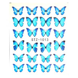 turquoise blue butterfly decals