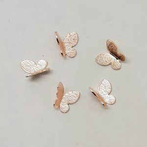 butterfly nail charms rose gold