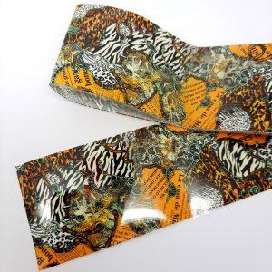 abstract animal print foil