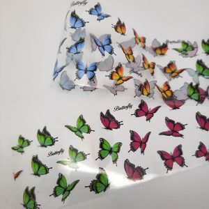 butterfly nail foil
