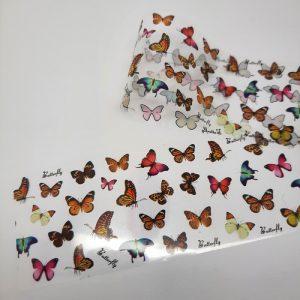 butterfly nail transfer foil