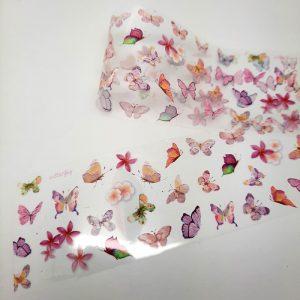 butterfly foil pastel