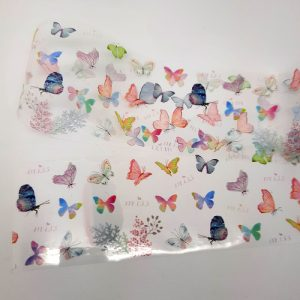 butterfly foil with leaves