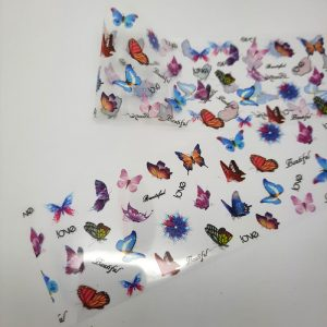 butterfly love nail foil