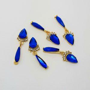 blue crystal nail dangle charms