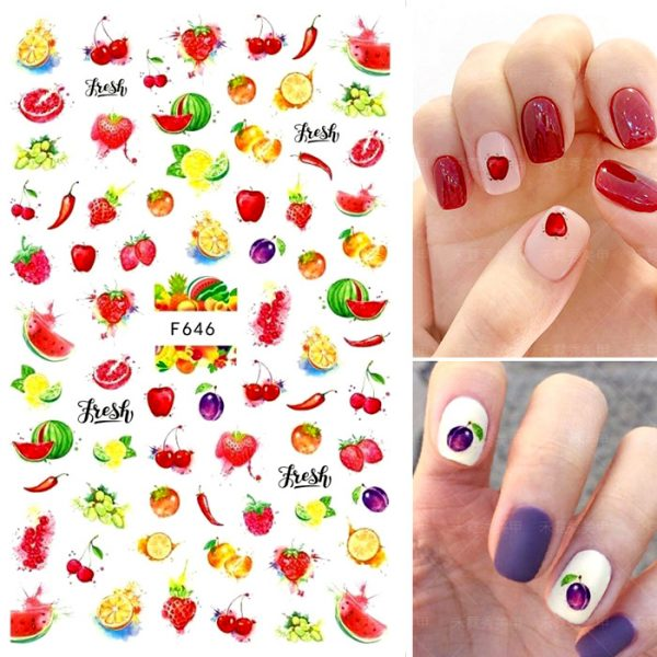 fruity nail stickers