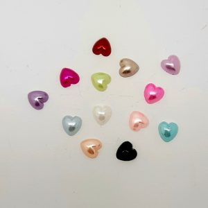 pearly hearts nail decoration